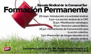 formación sindical CNT Comarcal Sur